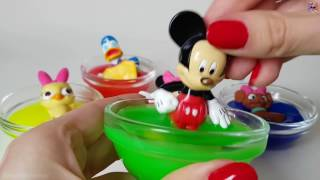 Slime and Colors Mickey Donald Minnie - Zabawa w Glutach