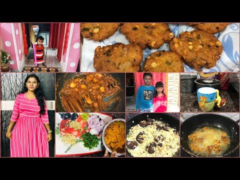 Weekend Vlog/Chicken Fried rice/Chamagadda Pulusu Making at Home/Amulya's Kitchen&Vlogs/Masala Vada