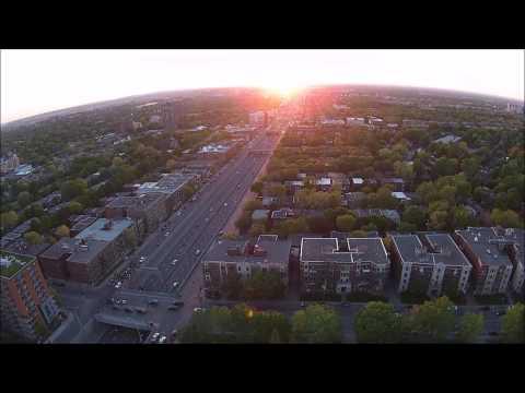 Sun goes down MONTREAL