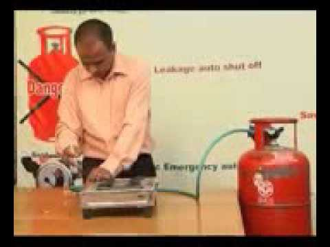 gas safety device in hyderabad telugu  video   GAS SECURA GAS SAFETY DEVICE 2