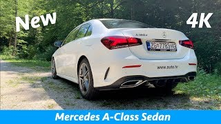 Mercedes A-Class sedan 2019 AMG Line  - quick look in 4K | Day-Night, Interior-Exterior