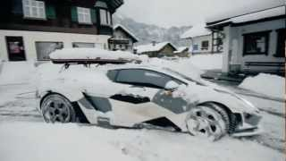 Lambo Snow Drifting