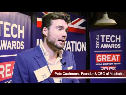 Pete Cashmore talks about the 2014 GREAT Tech Awards