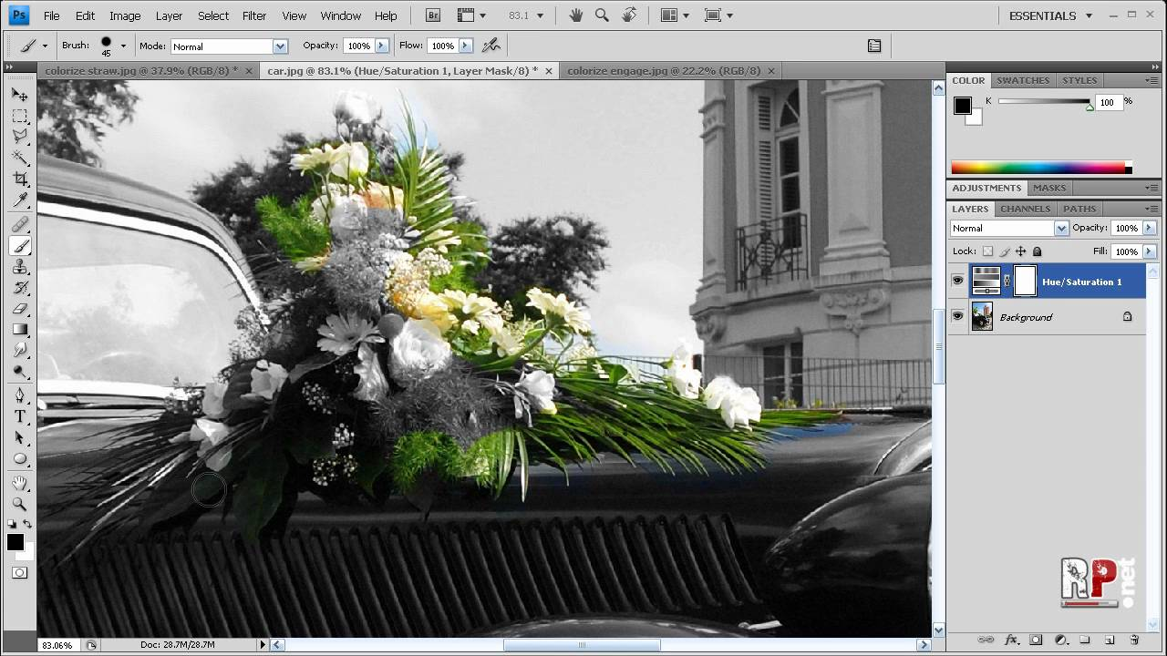 how to make photoshop cs4 black