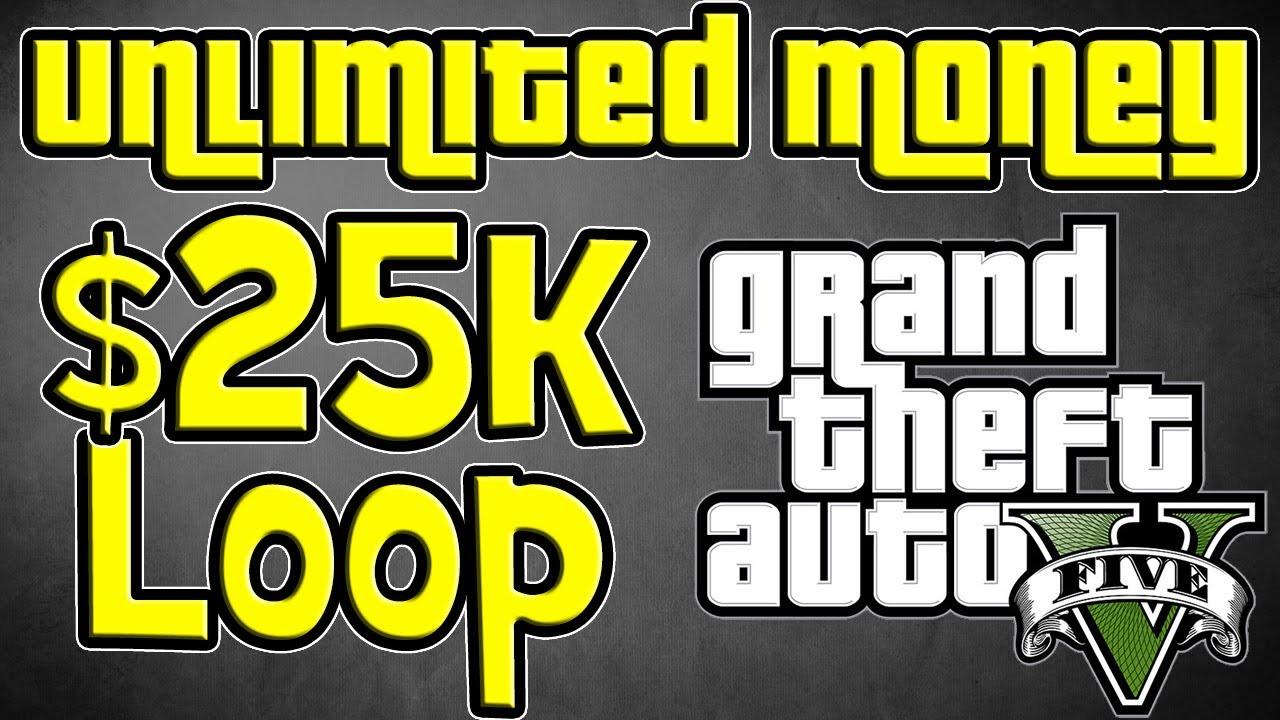 GTA 5 - Unlimited Money Glitch - $25k Loop, not $12k - GTA V Infinite ...