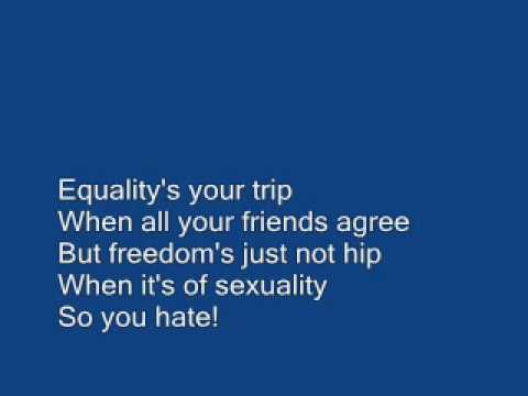 Propagandhi - Homophobes Are Just Mad Cause They Cant Get Laid