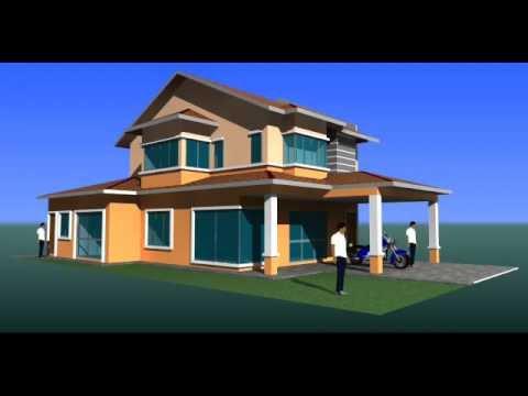 Visual 3D Ubahsuai Rumah End-Lot 2 Tingkat Seksyen U10 Shah Alam