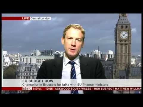 Mats Persson on BBC news discussing the Northern European summit & UK's £1.7bn EU budget surcharge