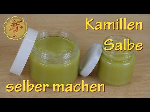 Kamillen-Salbe selber machen - mit Zutaten aus dem Supermarkt