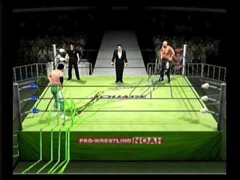 All-Star Pro Wrestling 2 videogame Keiji Mutoh v Mitsuharu Misawa