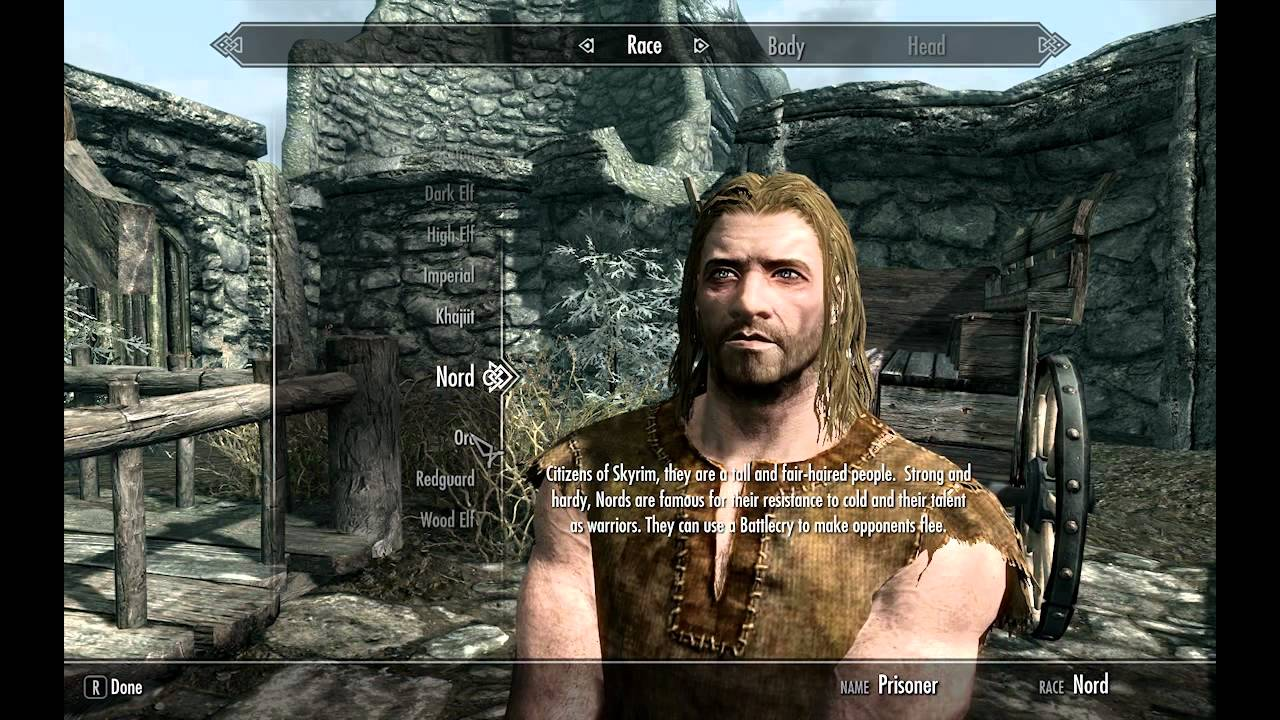 Best race for a warrior in skyrim youtube
