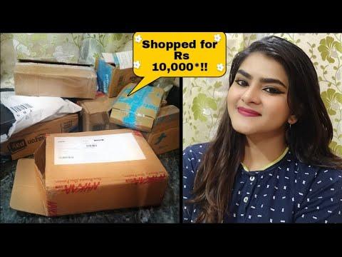 Makeup haul | Skincare haul | Nykaa haul | Purplle haul | PART 1 of my '5000 rs haul' | Ria Das |