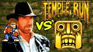 Chuck Norris vs Temple Run