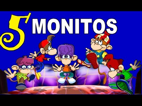 CINCO MONITOS SALTARINES - Canciones infantiles