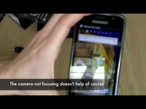 Samsung Galaxy S  GT i9000 unboxing and first impressions