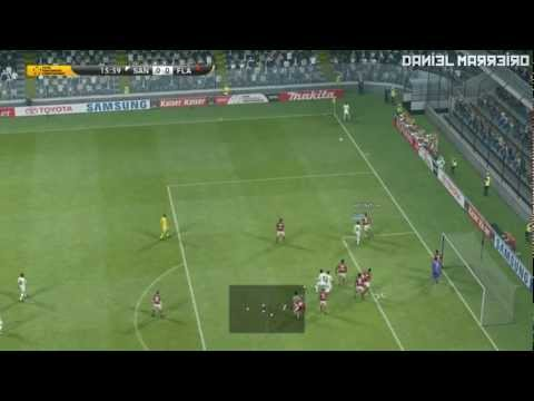PES 2013  DEMO - SANTOS X FLAMENGO AO VIVO