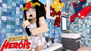 Minecraft: WONDER WOMAN TAKING BATH # 15 (SCHOOL OF HEROES 2)