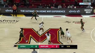 Highlights: Loyola Maryland  at Maryland | Women's Basketball | Dec. 8, 2019