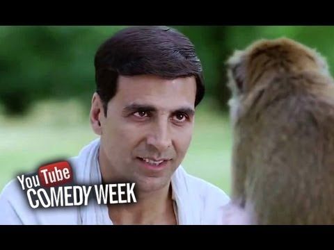 Akshay Kumar Slapped By A Monkey - Comedy Sequence - Housefull