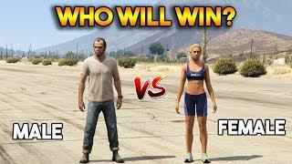 GTA 5 ONLINE : MALE VS FEMALE (WHO WILL WIN?)