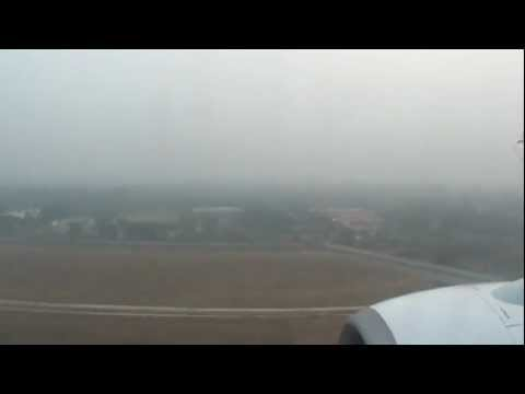 Landing in New Delhi during heavy air pollution