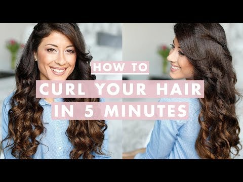 Want to curl your hair , but don't want to spend an hour doing it? In this video I will show you how you can curl your hair really fast. I'm wearing Luxy Hair Extensions: http://www.luxyhair.com...