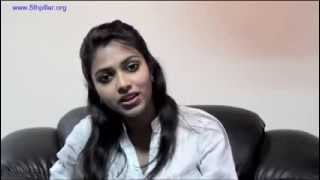 Amala Paul, a South Indian film actress urges the public to use the Zero Rupee Note (http://www.5thpillar.org/programs/zero-rupee-note) to get freedom from c...