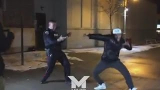 Police Officer, Student End 911 Call In Epic Break Dance Competition