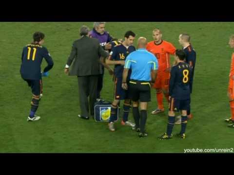 Niederlande / Spanien Foul Nigel de Jong HD