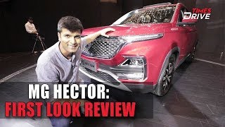 MG Hector SUV | The Connected Car First Look | Times Drive
