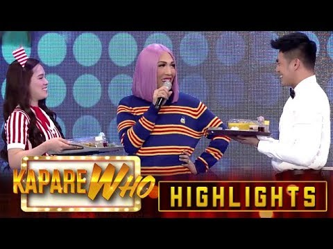 Jackie and Ion serve noodle dishes to Vice Ganda | It's Showtime KapareWho