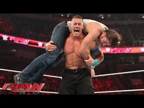 John Cena Vs Dean Ambrose – United States Championship Match: Raw, March 30, 2015 video