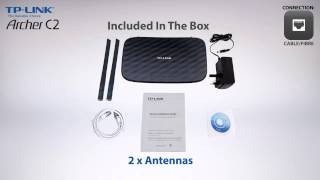 TP-LINK Archer C2 AC750 Wireless Dual Band Gigabit Router Unboxing
