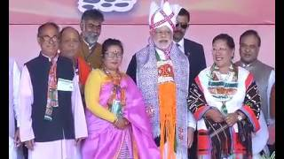 PM Shri Narendra Modi addresses public meeting in Imphal, Manipur : 25.02.2017