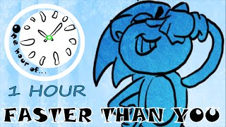 FASTER THAN YOU (Sonic Stronger Than You Parody) 1 hour | One Hour of...
