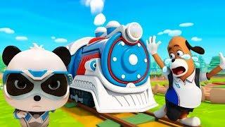 Super Rescue Team On The Railroad | Super Panda Cartoon | Super Train | Kids Song | BabyBus