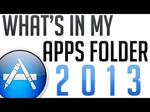 What's in my Apps Folder 2013 Mac (Incl. Mac Games)