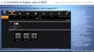 Saphyr - SPX450: Vidéo de formation - Mode Mélangeur