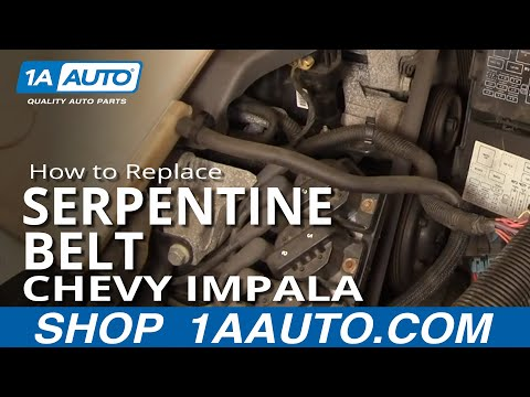 How To Install Repair Replace Serpentine Engine Belt Chevy Impala 3800 00-05 1AAuto.com