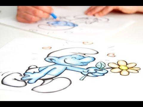 Colorare disegni per bambini con i pastelli youtube for Disegni di natale facili per bambini