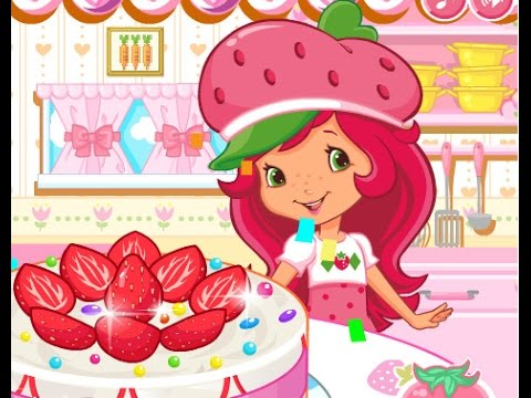 Шарлотта земляничка готовит торт