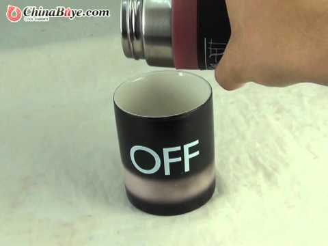Magical On/Off Color Changing Mug from chinabuye