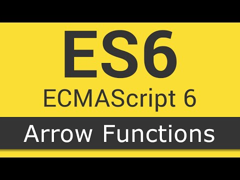 ECMAScript 6 / ES6 New Features - Tutorial 2 - Arrow Functions