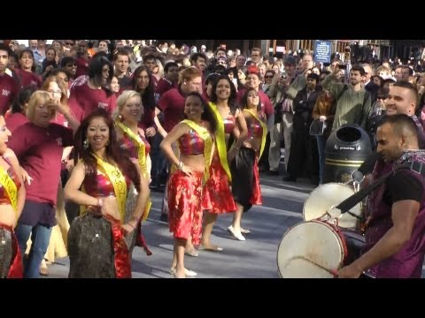 Bollywood Flash Mob Dance Leicester Square London video