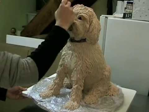 How-to make a sculpted dog cake