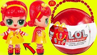 2018 Big LOL Surprise Dolls McDonald's Happy Meal Toys in Custom Drive Thru + Lil Sisters Toy Video