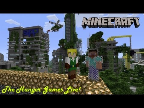 Minecraft Xbox 360 The Hunger Games - Live Part 2