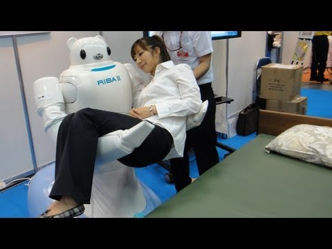 RIBA II Care Support Robot For Lifting Patients #DigInfo