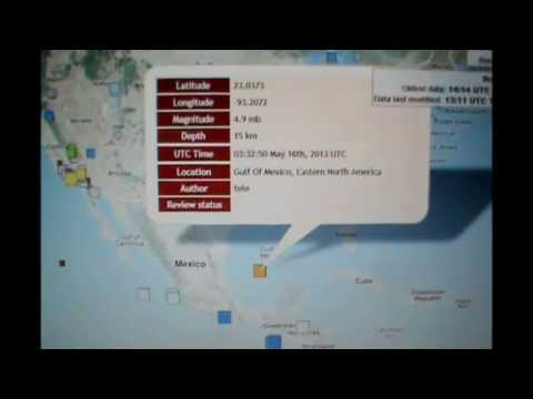 EARTHQUAKE IN GULF OF MEXICO??? MAY 16, 2013