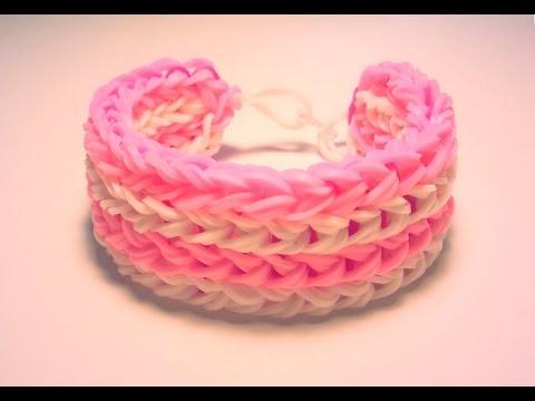 Comment faire une fleur avec des lastiques sans machine - Comment faire un bracelet en elastique ...